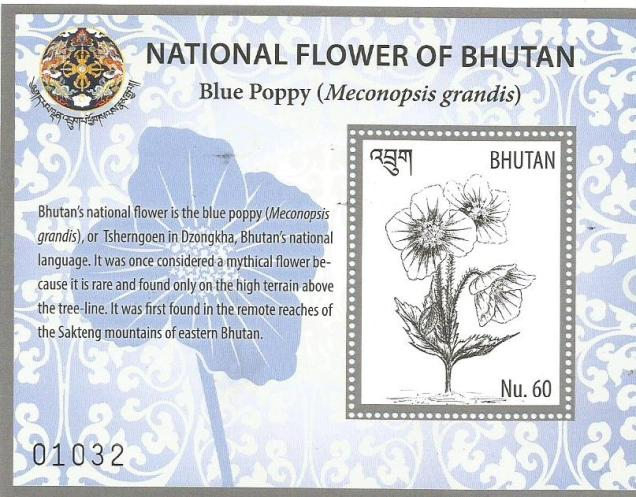 BHUTAN MS NATIONAL FLOWER