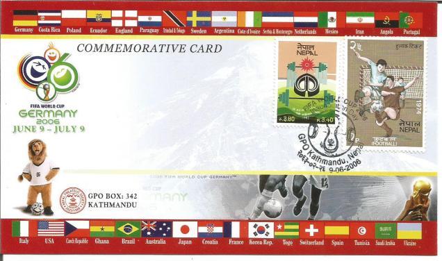 Nepal fooball card
