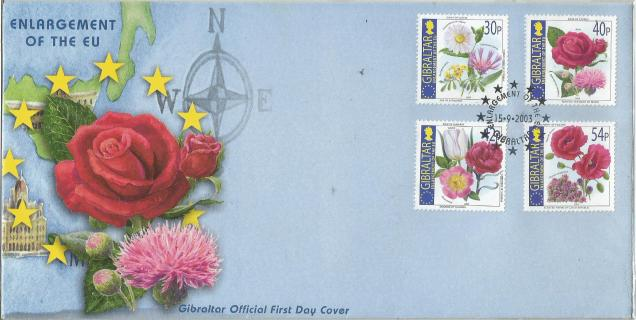 ROSES ON STAMPS