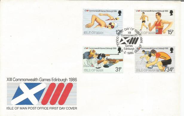 CWG XII 1986 FDC