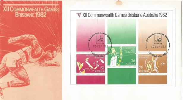 CWG XI1 1982 FDC