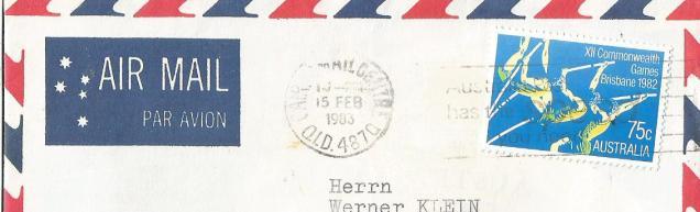 CWG XI1 1986 STAMP