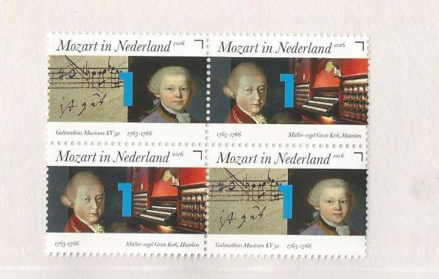MOZART IN NED STAMPS