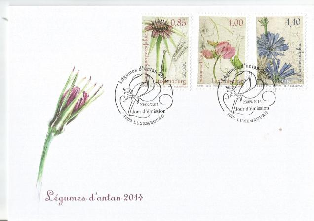 LUXEMBOURG  FDC FLOWERS