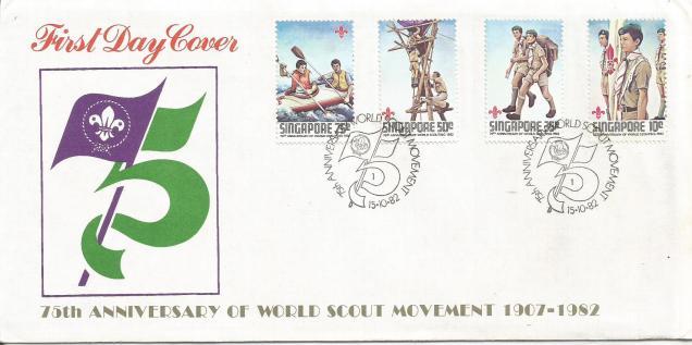SINGAPORE FDC SCOUTS 82