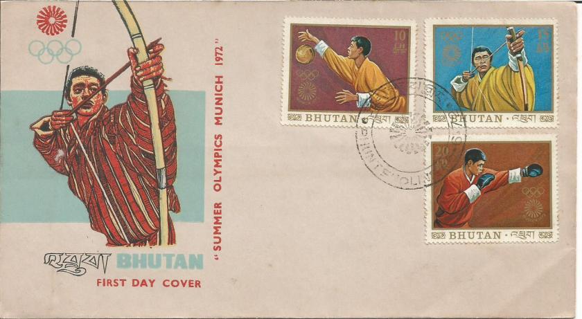 BHUTAN FDC 72 OLY