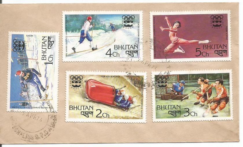 BHUTAN FDC 76 W OLY