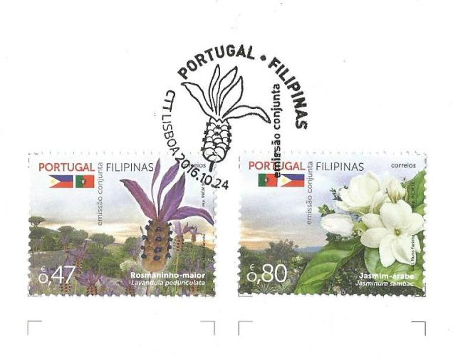 FLO PORTUGAL-PHILLI JT ISSUE STAMPS