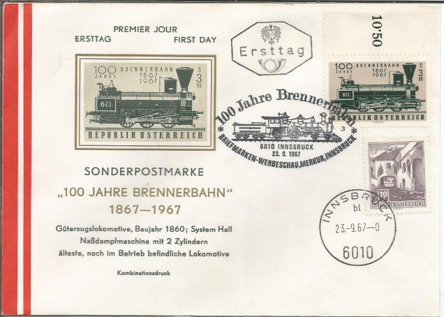 CENTENARY OF BRENNER RAILWAY