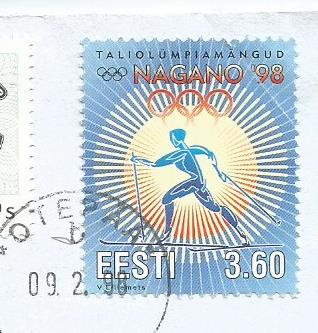 STAMPS ON NAGANO OLYMPICS 1998