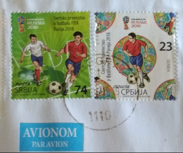 SERBIA -2018 FIFA WC STAMPS