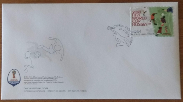 FDC -CYPRUS - 2018 FIFA World Cup