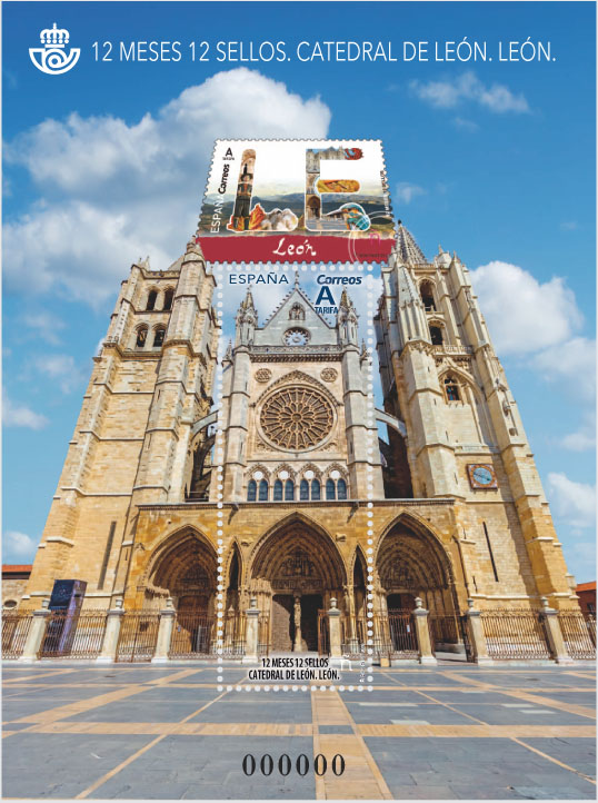 12 MONTHS 12 STAMPS - LEON CATHEDRAL