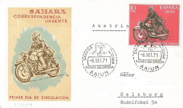SPANISH SAHARA SPECIAL DELIVERY STAMP
