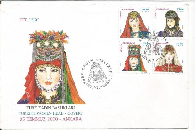 TURKEY FDC WOMEN HEAD COVERS