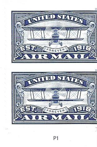 UNITED STATES  AIRMAIL BLUE -2018