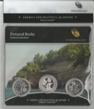 PICTURED ROCK NATIONAL LAKESHORE -THREE COIN SET 2018