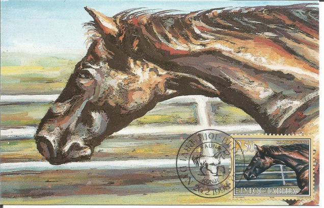 YUGOSLAVIA MAXIM CARD HORSE