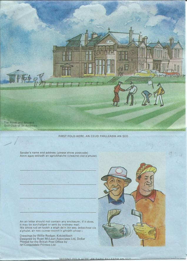 AEROGRAMME SCOTLAND ON GOLF 1979