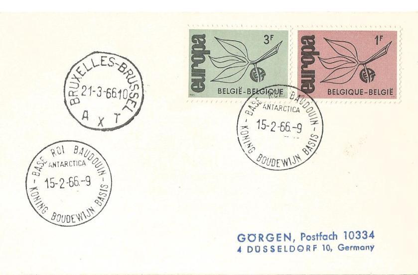 EUROPA 1966 BELGIUM ANTARCTICA BASE