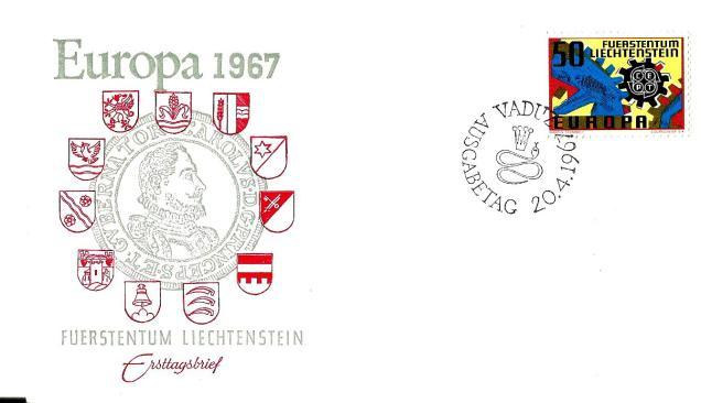 EUROPA 1967 LIECHTENSTEIN