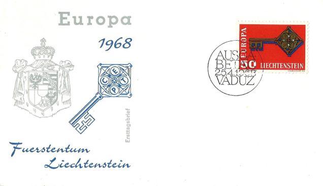EUROPA 1968 LIECHTENSTEIN