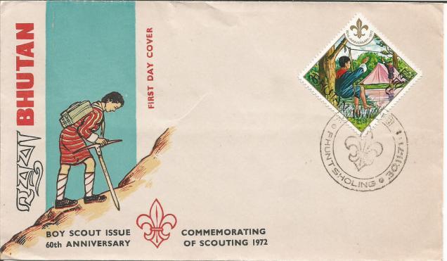 FDC BHUTAN SCOUT 1972