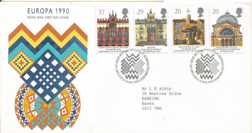 FDC GB EUROPA 1990