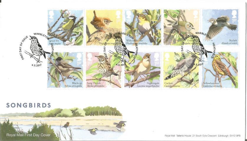 FDC GB SONG BIRDS