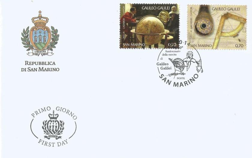 FDC SAN MARINO GALILEO