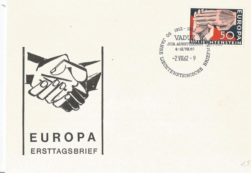 FDC LIECHTENSTEIN EUROPA 62