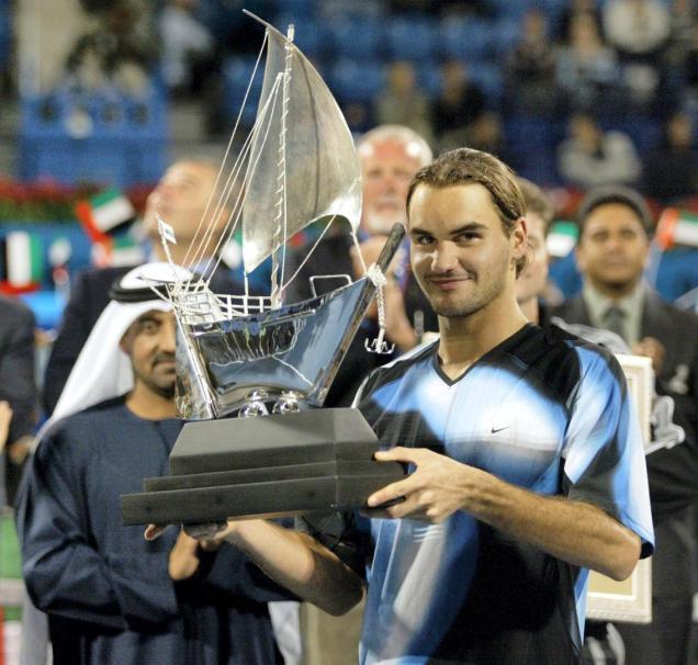 federer at 2003 Dubai Championships