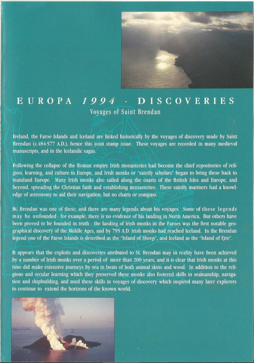 EUROPA 94 JOINT ISSUE PRESENTATION PACK