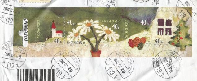 STAMPS on  GREETINGS HUNGARY MS