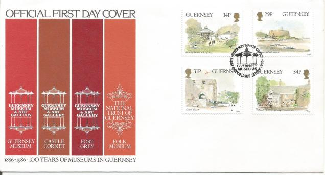 FDC GUERNSEY MUSEUMS