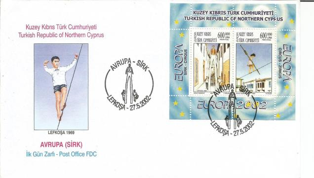 FDC N CYRRUS EUROPA CIRCUS