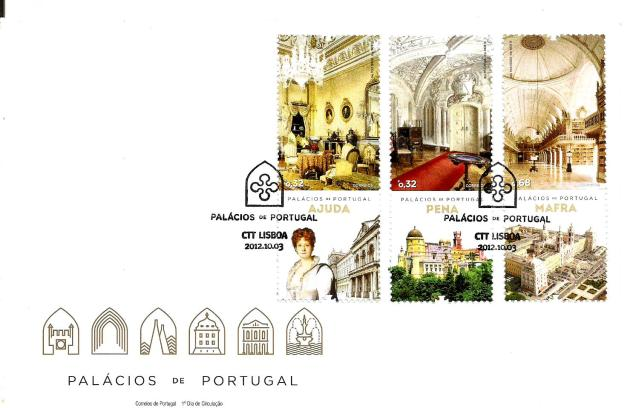FDC PORTUGAL PALACES