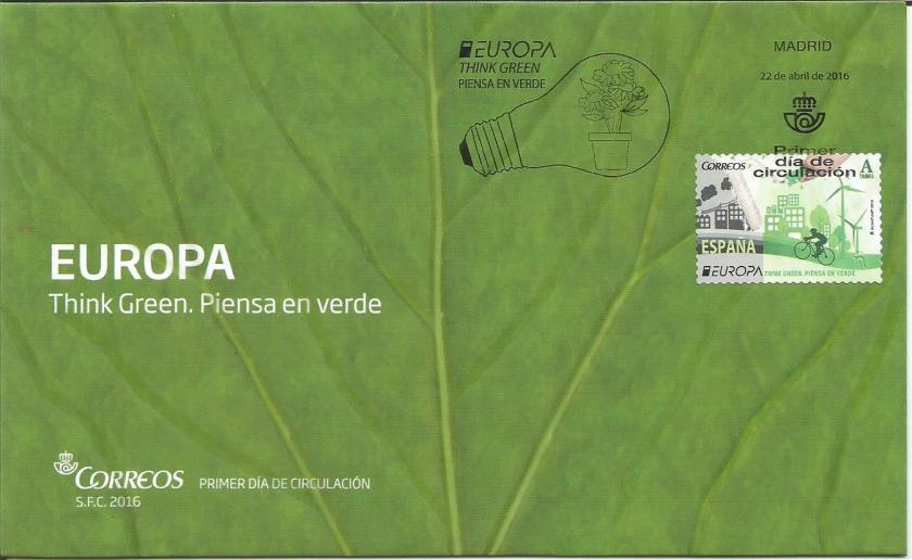 FDC SPAIN EUROPA THINK GREEN