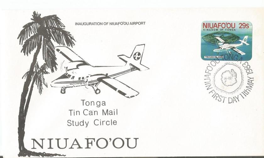 FDC TONGA TIN CAN MAIL