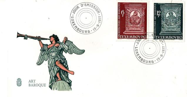 FDC LUXEMBOURG BAROQUE ART