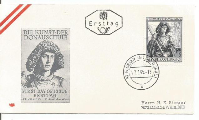 FDC AUSTRIA  ART of DANUBE SCHOOL -1965