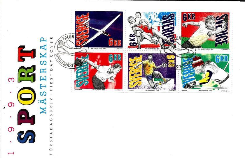 FDC SWEDEN SPORTS 1993