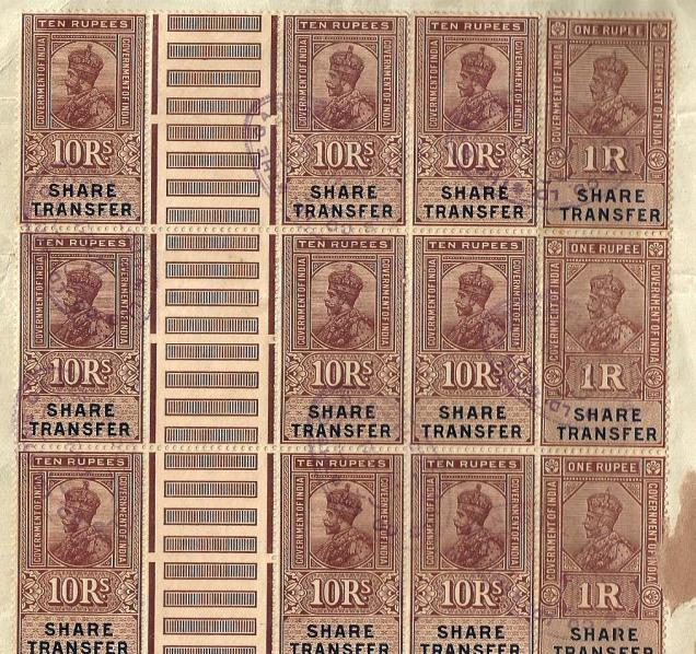 INDIA SHARE TRANSFER G PAIR