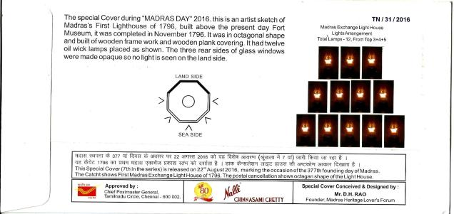 SPECIAL COVER MADRAS DAY 2016 BACK