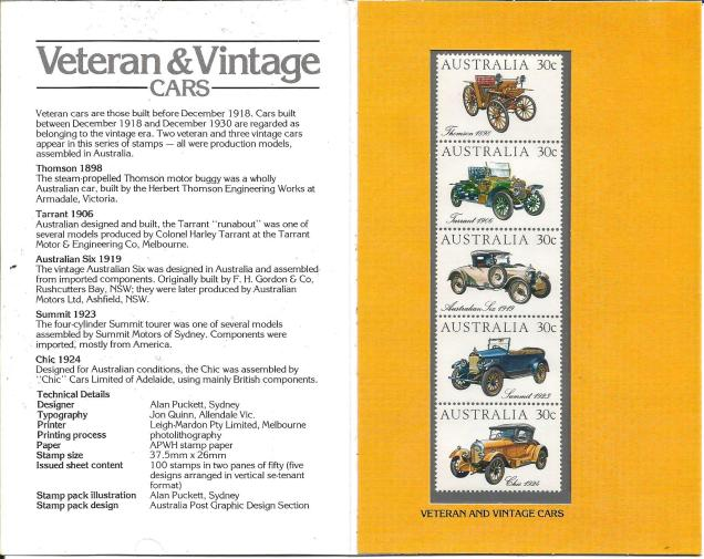 AUSTRALIA VINTAGE CARS STRIP