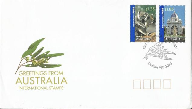 FDC AUSTRALIA INT STAMPS