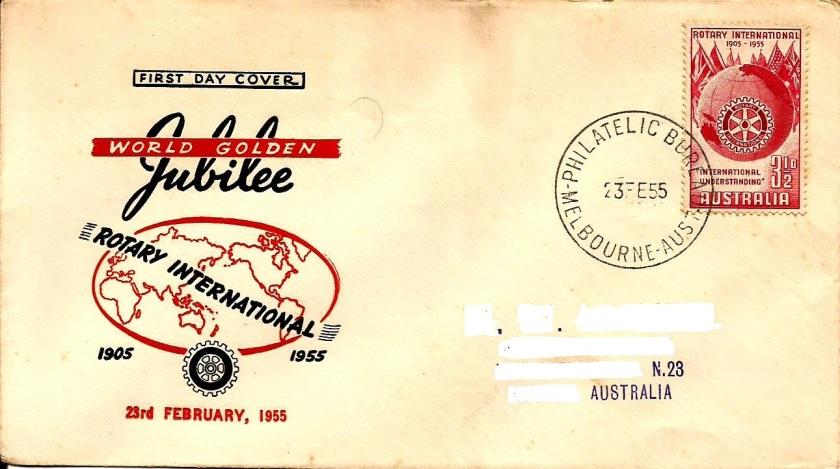FDC AUSTRALIA ROTARY 50 YEARS