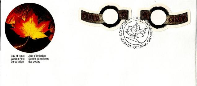 FDC CANADA ODD SHAPED GREETINGS