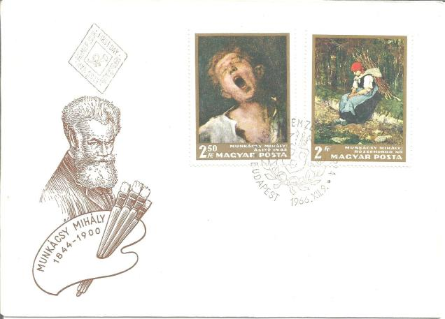FDC HUNGARY PAINTING MIHALY