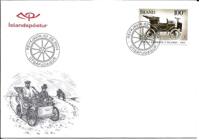 FDC ICELAND CARS